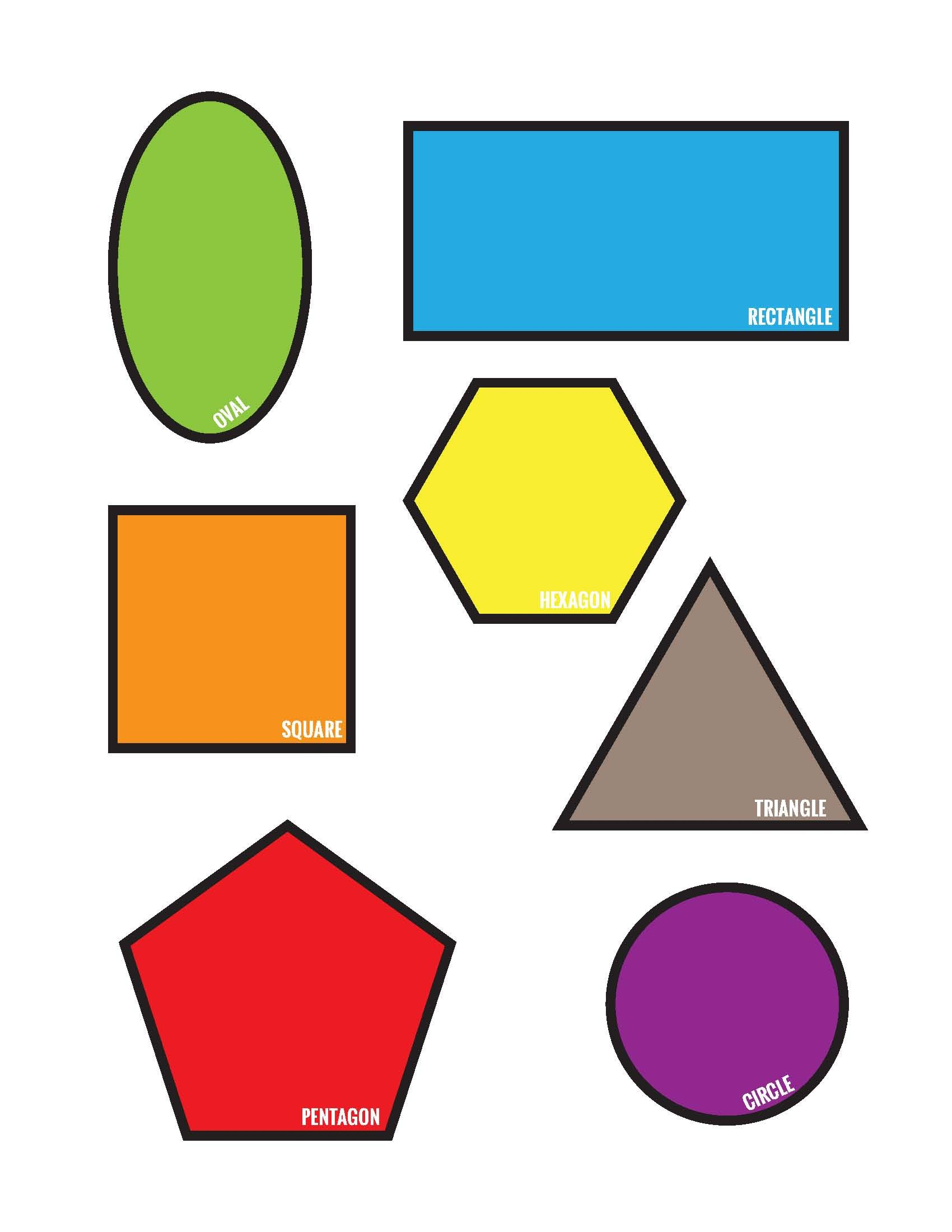 Shape Match Toddler Pre K File Folder Game Page 4