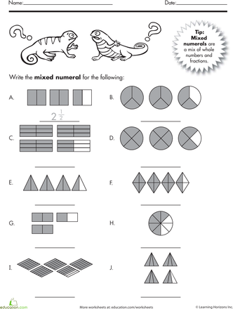 Mixed Numbers Classroom Math Activities Math Fractions Fractions