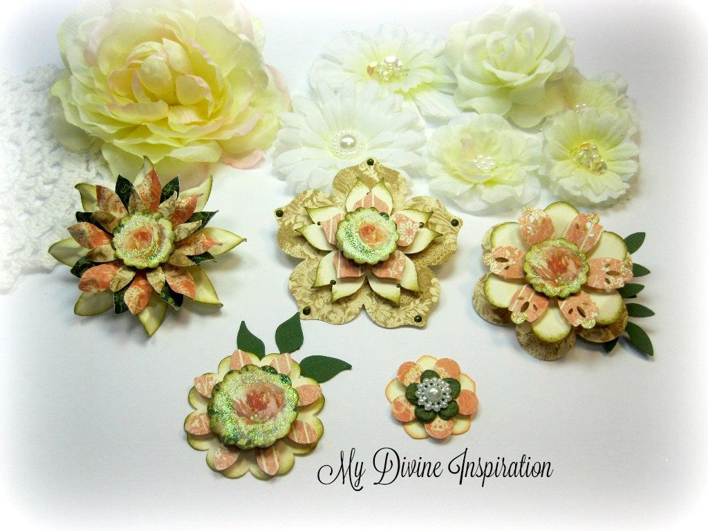 Scrapbook ideas with flowers - Graphic 45 Portrait Of A Lady Handmade Scrapbook Paper Embellishments Paper Flowers For Scrapbook Layouts Cards Mini Albums Paper Crafts
