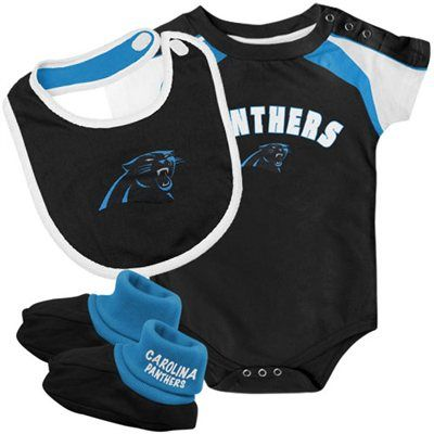 Carolina Panthers Infant 3-Piece Creeper c8bfa5e1a