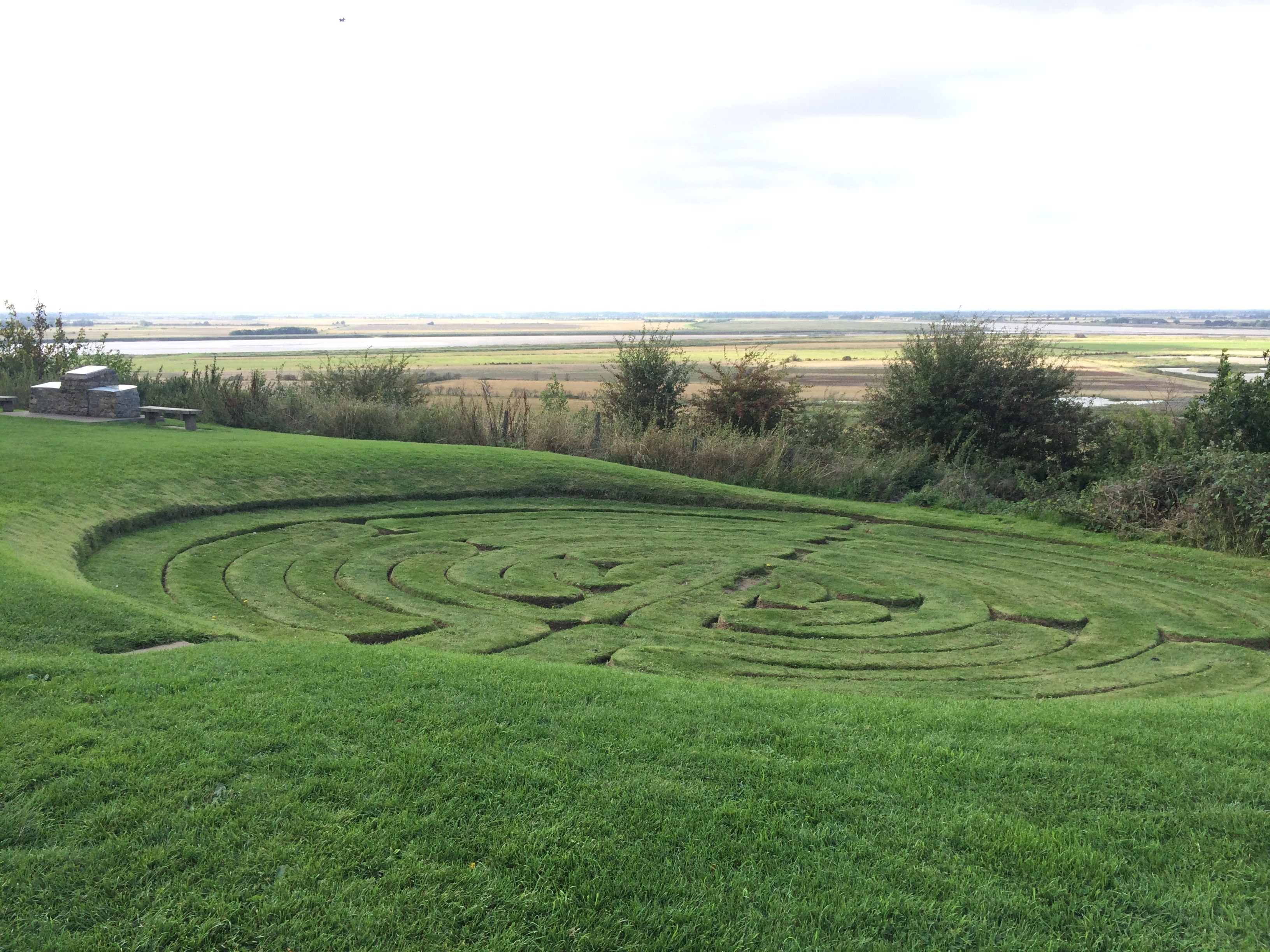 The ancient labyrinth, Julian's Bower, Alkborough