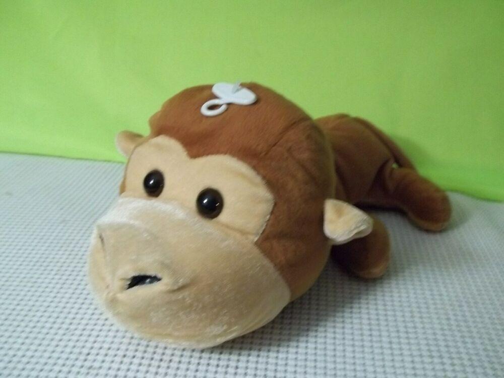 HUGFUN Baby Monkey floppy plush tan cream brown SOFT TOY