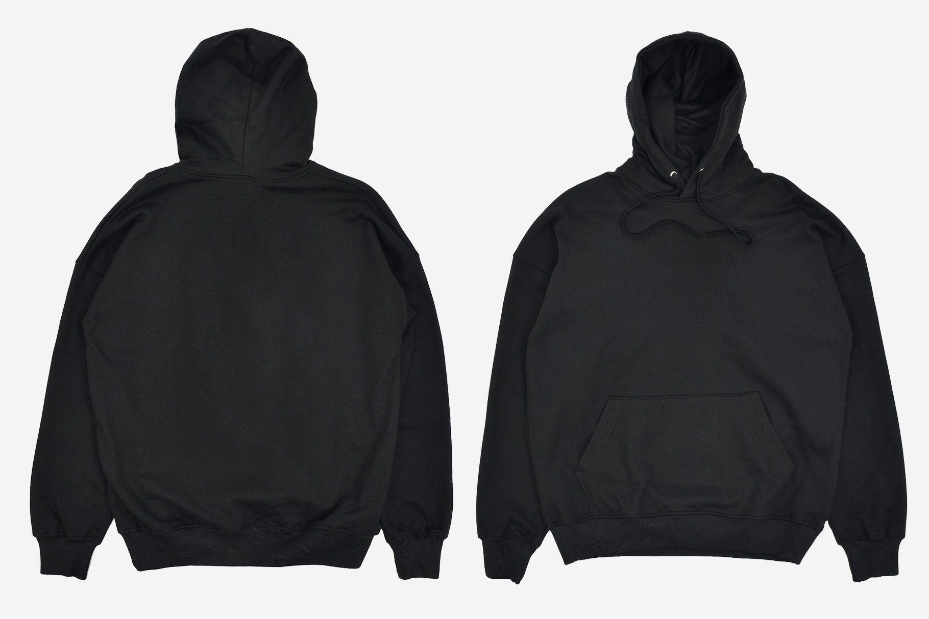 Download Realistic Blank Black Hoodie Mockup Hoodie Jaket Kaos