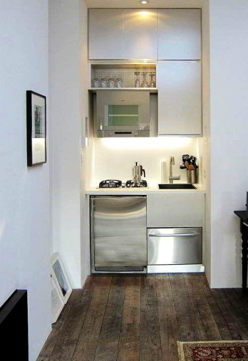 Come arredare una mini cucina per un monolocale | Mare | Pinterest ...