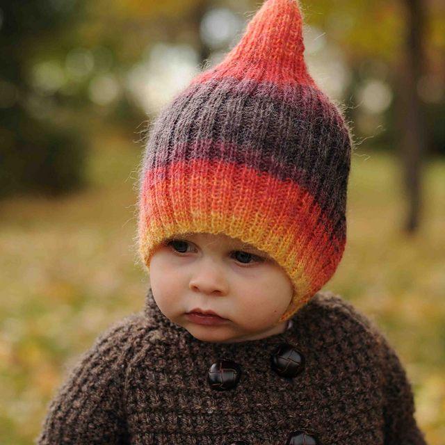 Striped Elf Hat at Ravelry! | LEO*** | Pinterest | Strick und Ideen