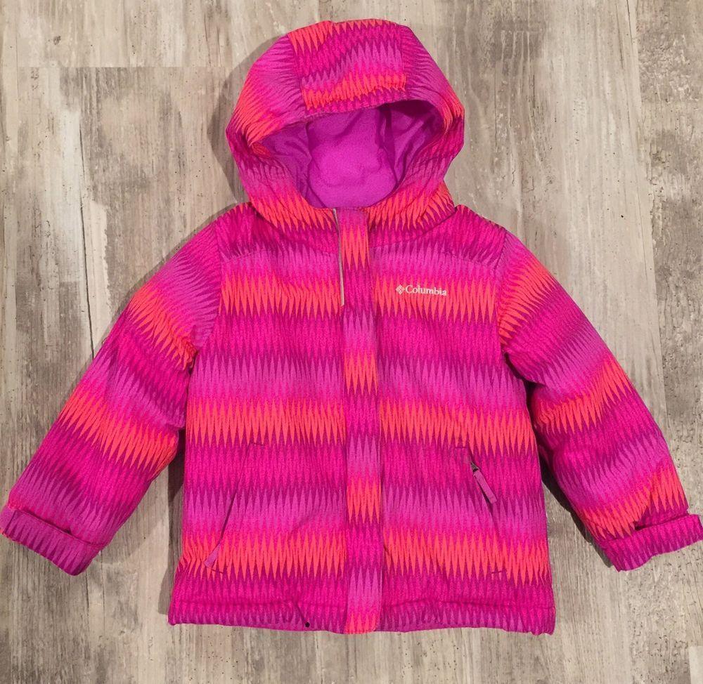 ac1fe751b COLUMBIA Girls 4T Jacket Horizon Ride Hood Winter Coat Toddler ...