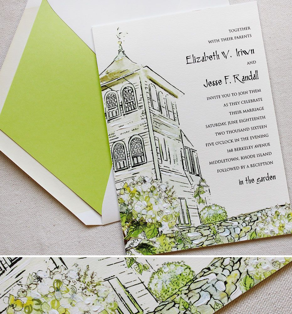 Gail H Wedding Invitations Watercolor Wedding Invitations