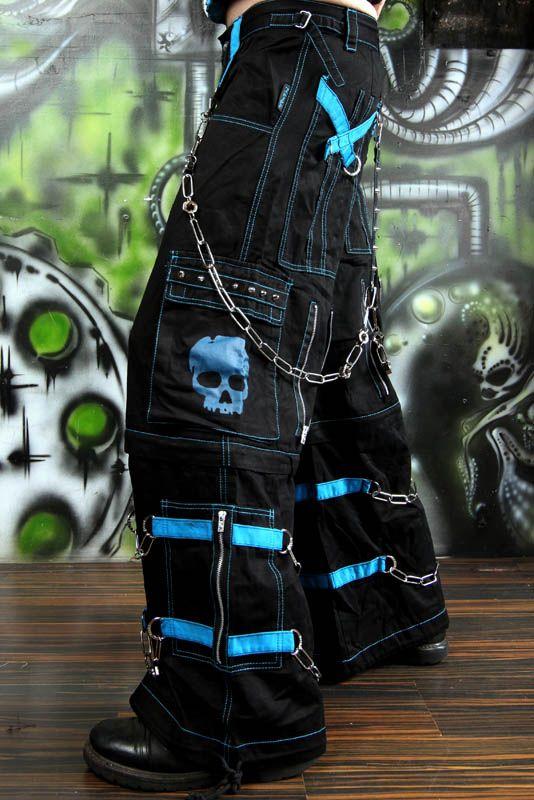 Tripp Nyc Skull Bondage Pants - Blue  Vampirefreaks -5398