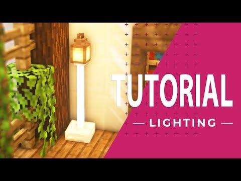 マインクラフト 簡単でオシャレな照明の作り方 家具 内装 Youtube