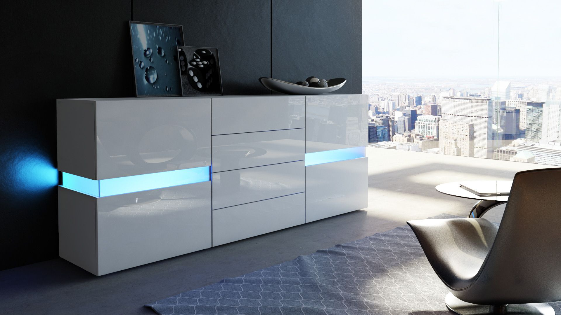 Kommode Mit Beleuchtung Flow Sideboard Kommode Mit Ambient Light Optionale Led