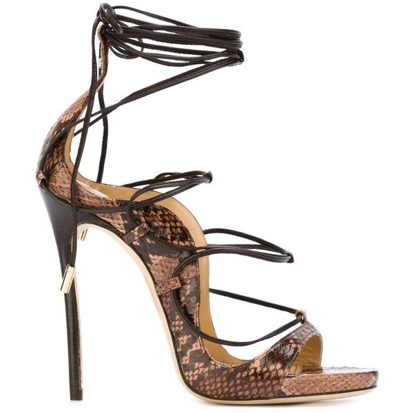 014cee7807880 Dsquared2 Strappy Sandals (17.745.850 IDR) ❤ liked on Polyvore featuring  shoes