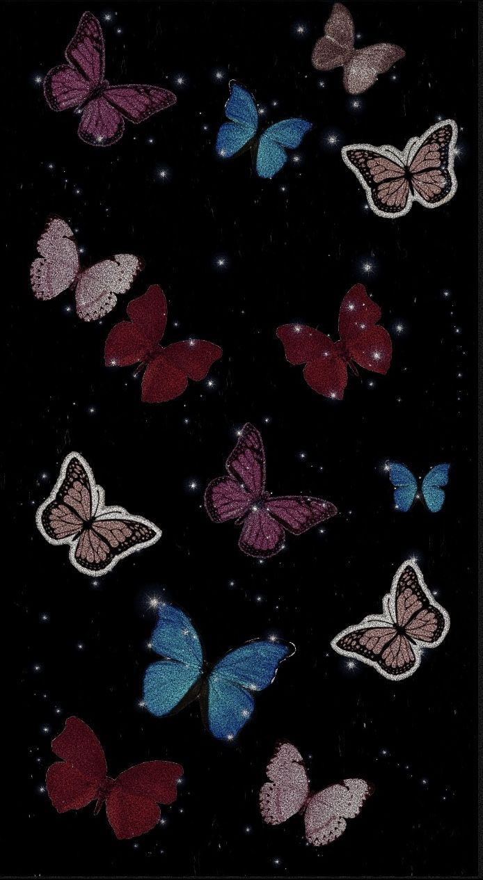 Black Pink Blue Aesthetic Sparkle In 2020 Butterfly Wallpaper Sparkle Wallpaper Black Aesthetic Wallpaper