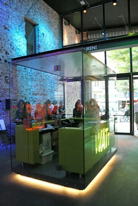 Dj Booth Inside Glass Cool Idea For A Radio Station In