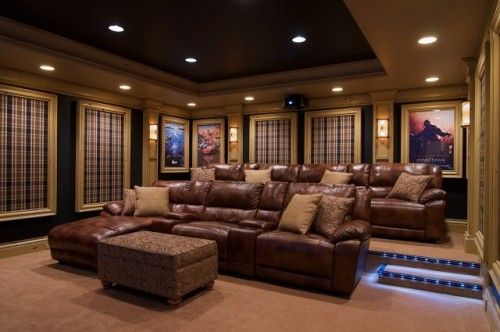home theater floor lighting step love the floor lighting and posters home theater