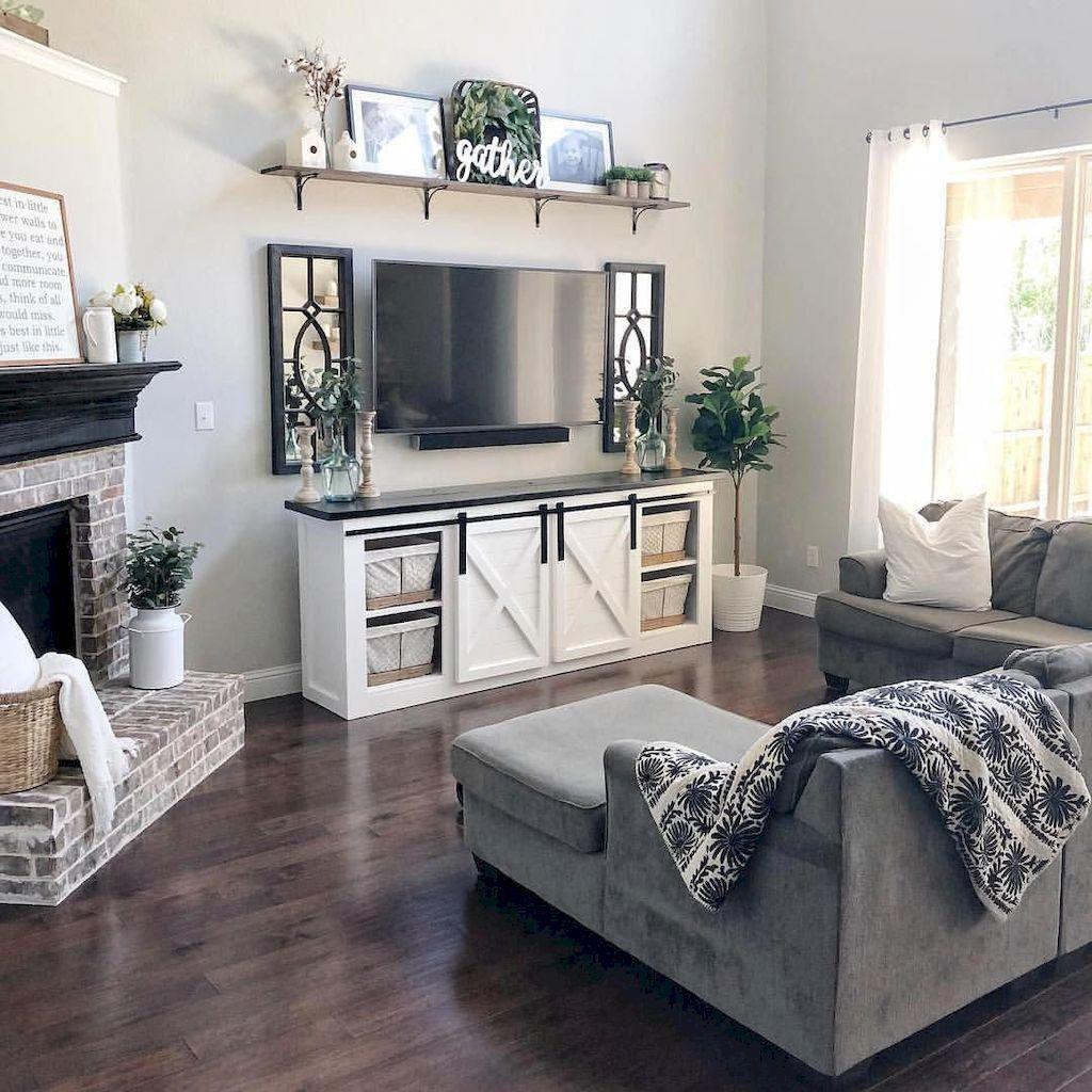 65 Cozy Apartment Living Room Decorating Ideas Living Room Decor Apartment Farm House Living Room House Decor Rustic