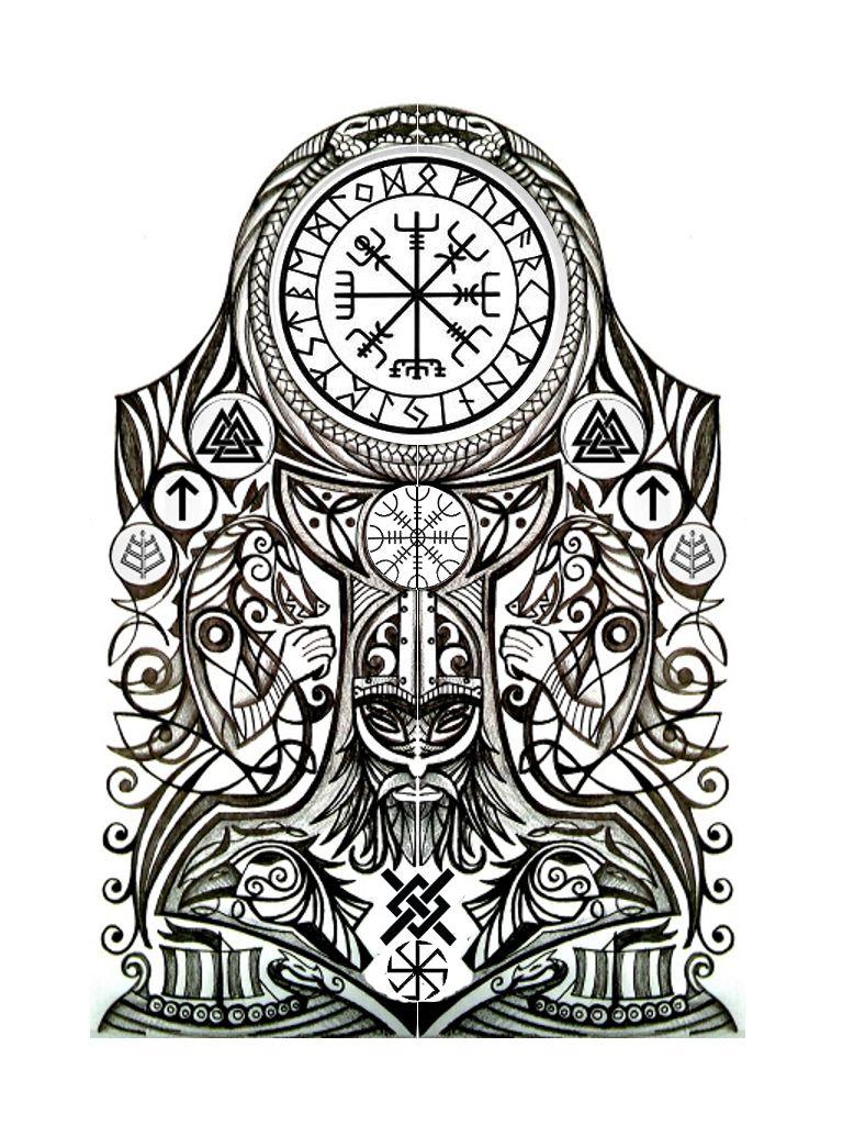 viking halfsleeve by thehoundofulster tattoos nordiske pinterest tatoveringer og mytologi. Black Bedroom Furniture Sets. Home Design Ideas