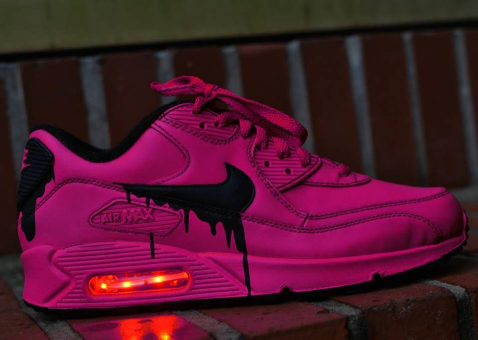 Cheap Nike Air Max 90 Candy Drip Black Rainbow Trainers Sale
