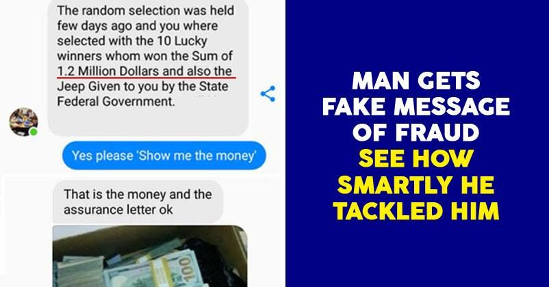 This Guy Got Message From Online Scammer For Winning 1 2 Million