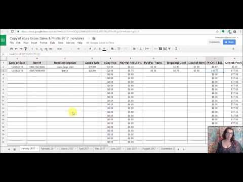 7 Spreadsheet For Tracking Ebay Profits Google Doc Available Now Youtube Spreadsheet Design Ebay Business Ebay Inventory Organization