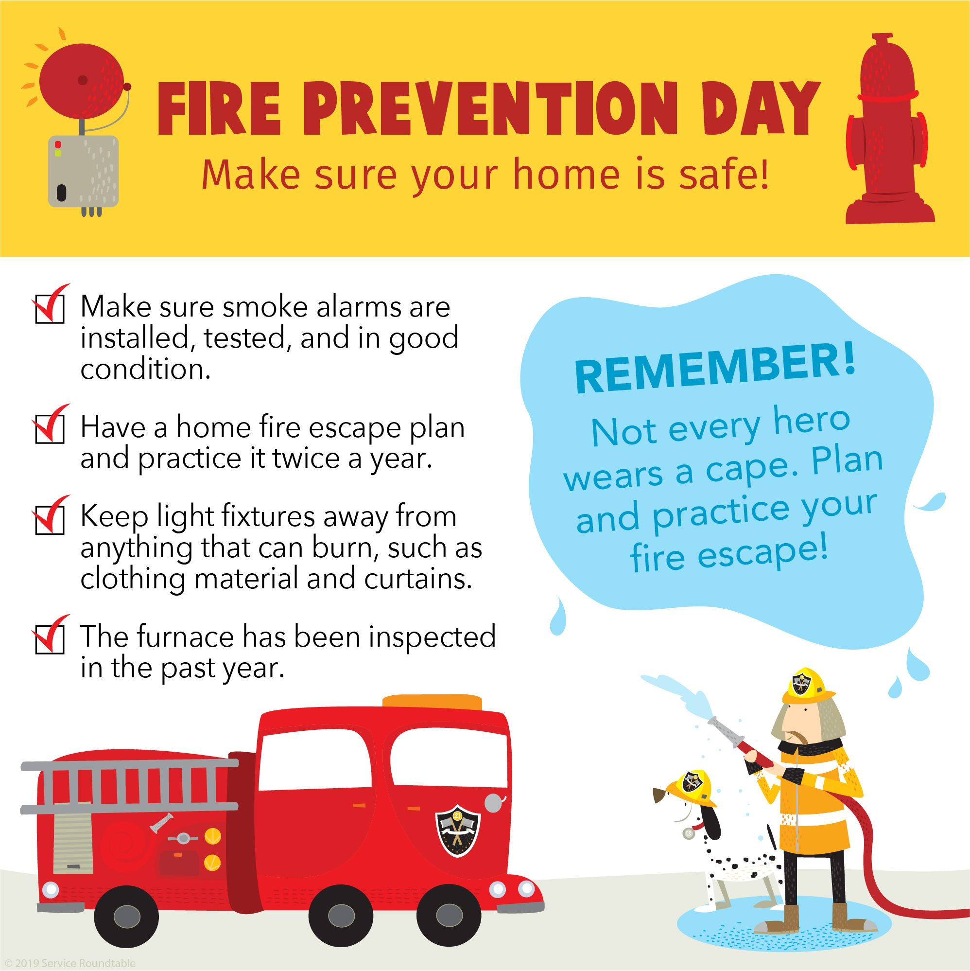 Today Is Fire Prevention Day! Do You And Your Family Have
