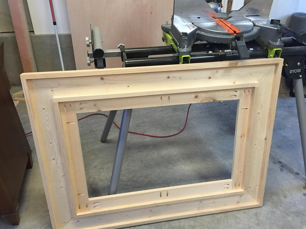 Attach Outside Frame Of 1x2 Woodworking Pinterest Frame Wood