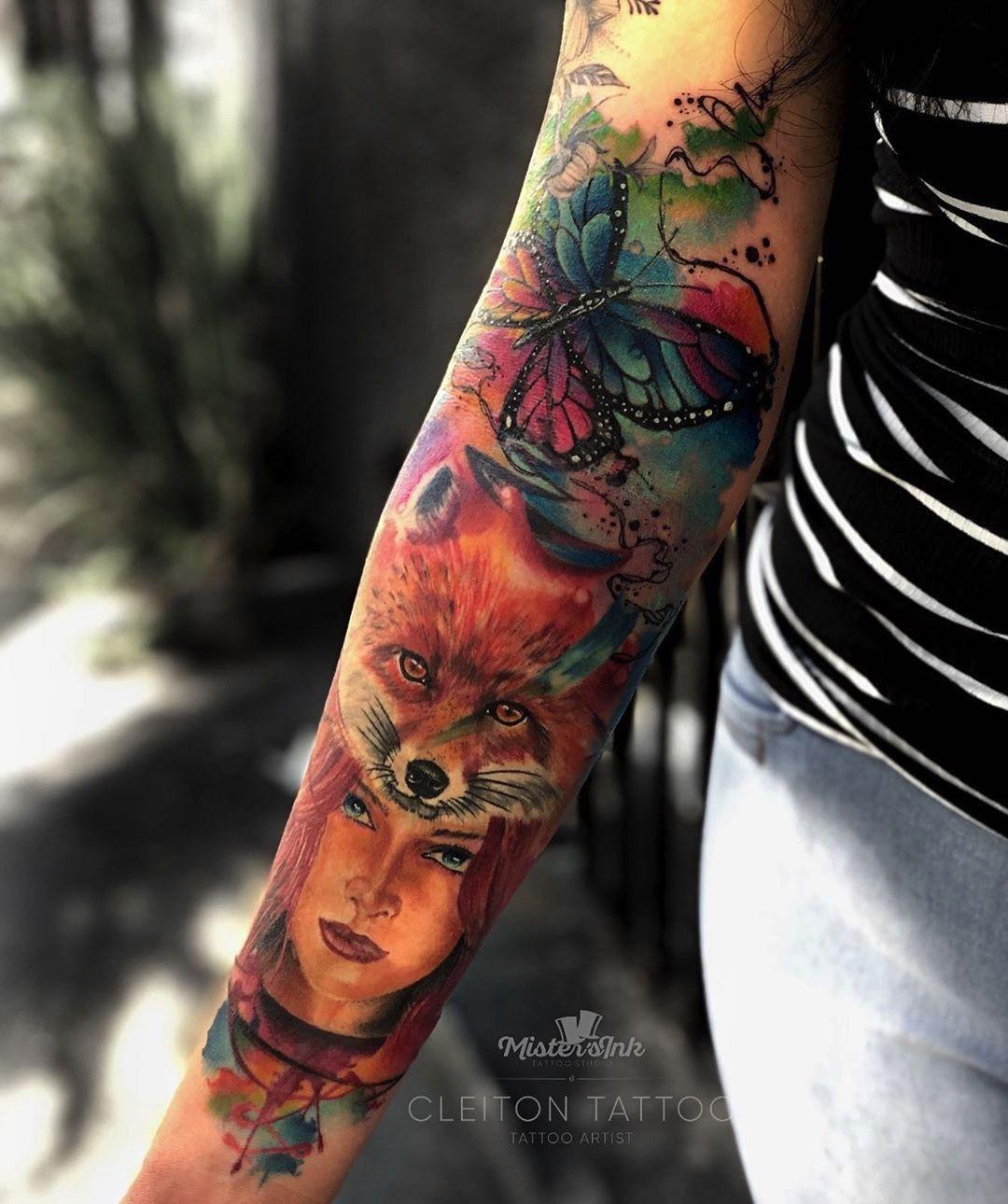 Tatuagem Criada Pelo Tatuador Cleiton Silva De Sao Paulo Clique