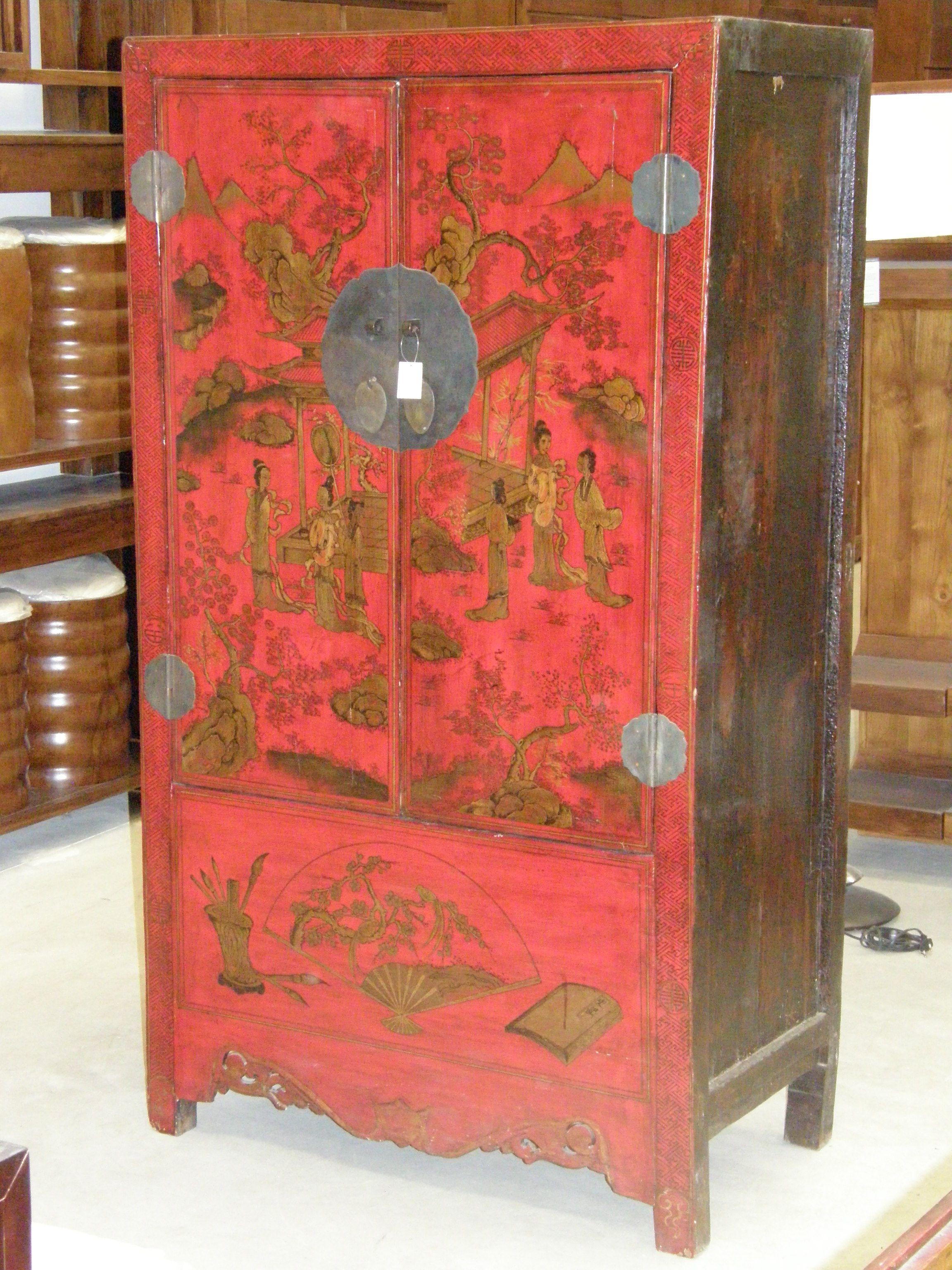 Armario Boda Chino Rojo Muebles Orientales Pinterest Chinese  # Muebles Wardrobe