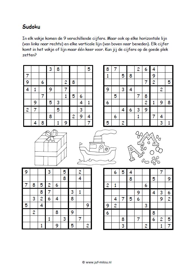 Sudoku [juf-milou.nl] | matematuka | Pinterest