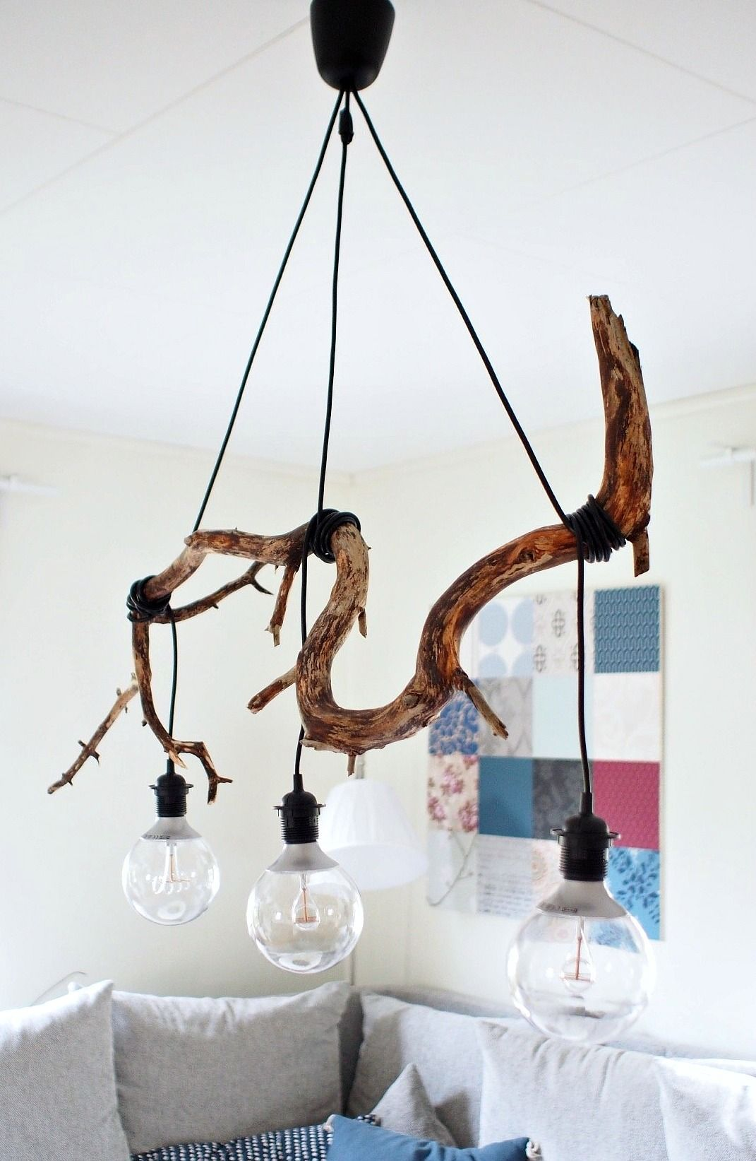 DIY #hanger #lampa #över #soffbordet #som My DIY lamp from