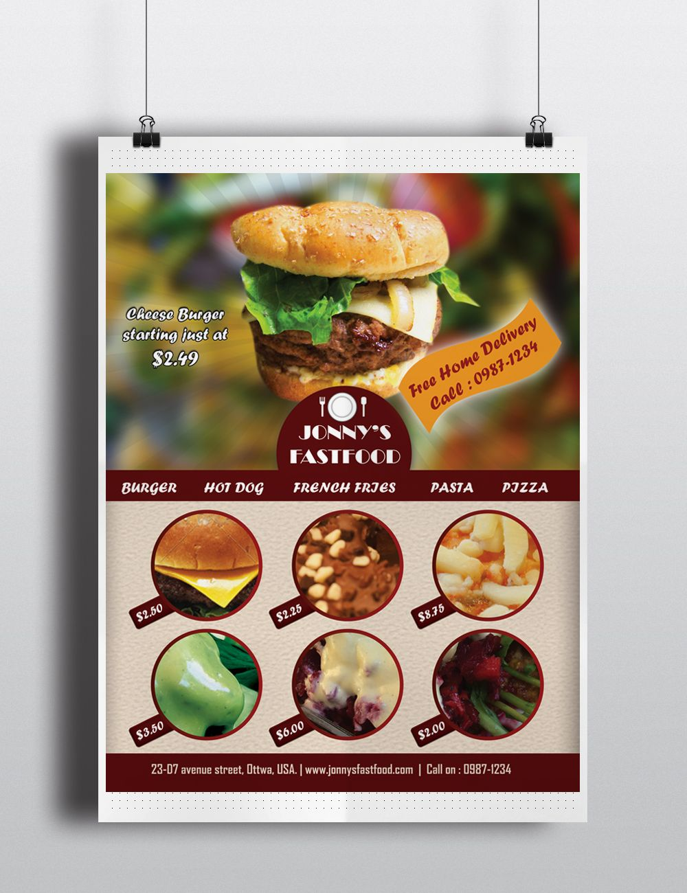 A Food Flyer Template Useful For Any Restaurant Food Court Or Shop