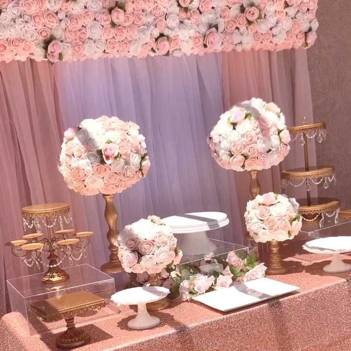 #description #available #fabulous #dessert #floral #table #photo #rose #gold #this #and #did #tbt #to #we #tbt to this fabulous rose gold and floral dessert table we did fYou can find Dessert Tables and mo...