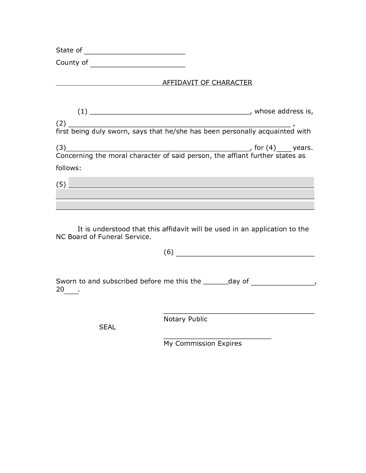 Character Affidavit Sample - PDF by smo71832 - affidavit of ...