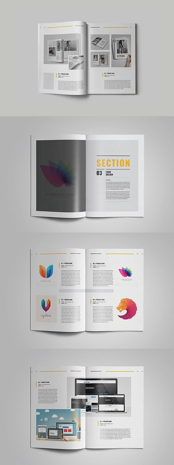 graphic design portfolio brochure templates pinterest brochure