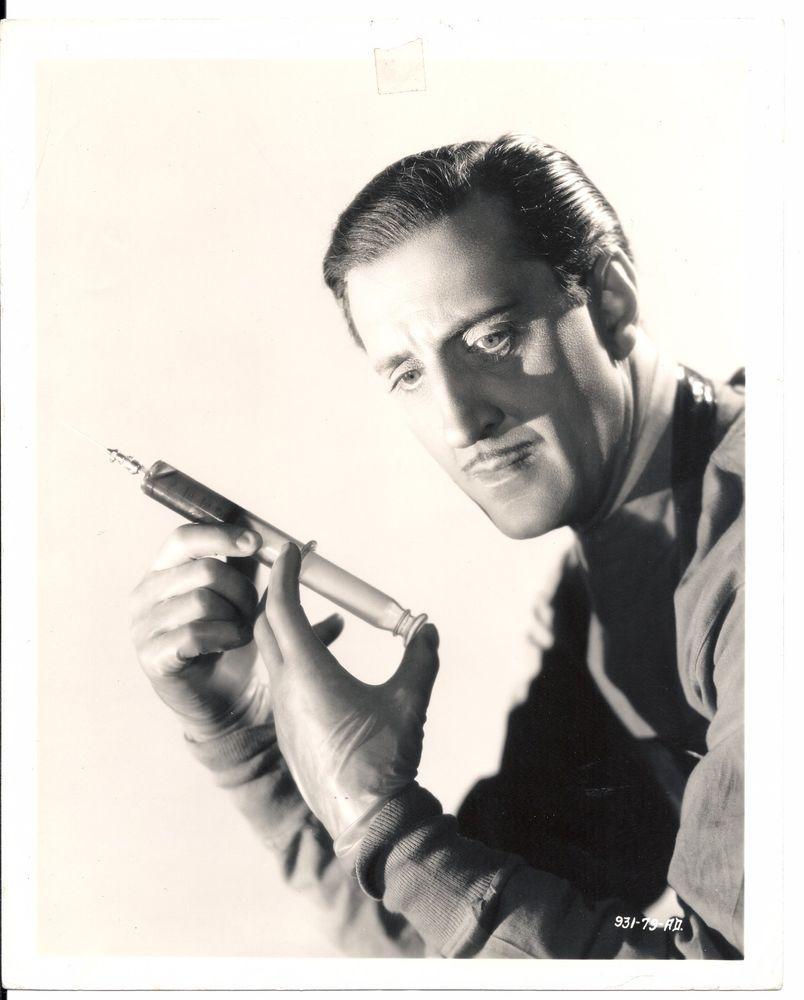 """Basil Rathbone - PR Still 1939 Universal """"Son Of Frankenstein Original 8x10 B/W"""