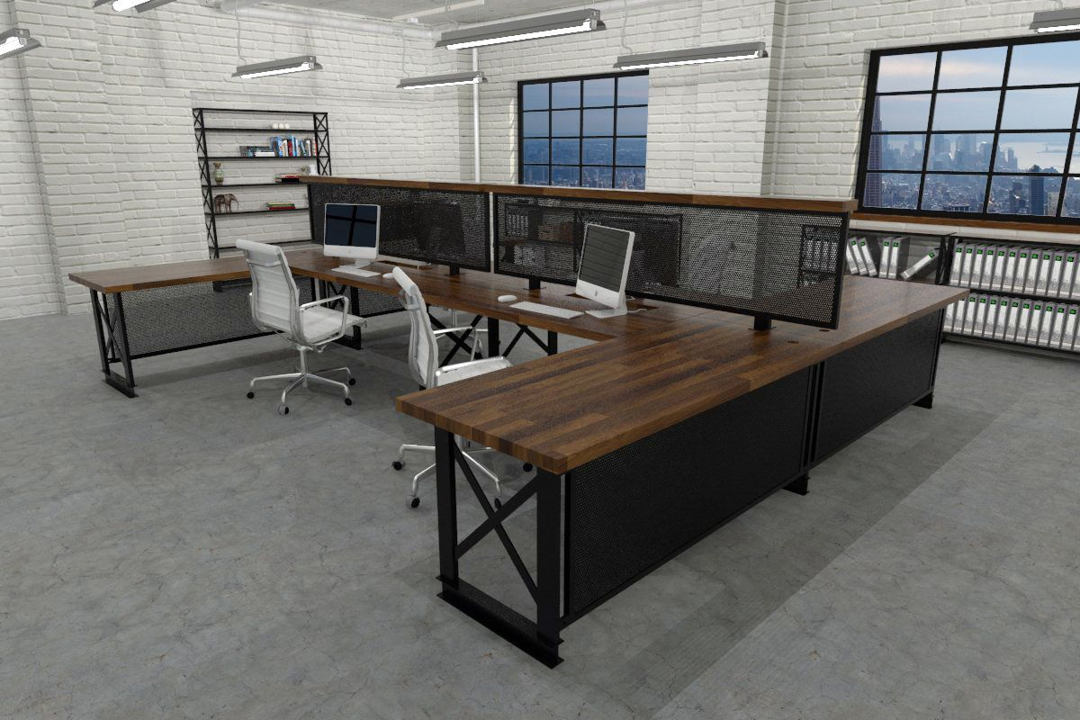 industrial office furniture. harrod carruca workstation industrial office furniture modern commercial rustic