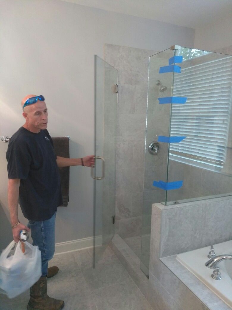 Frameless Shower Door Installed By Peachstate Glass And Mirror On 4