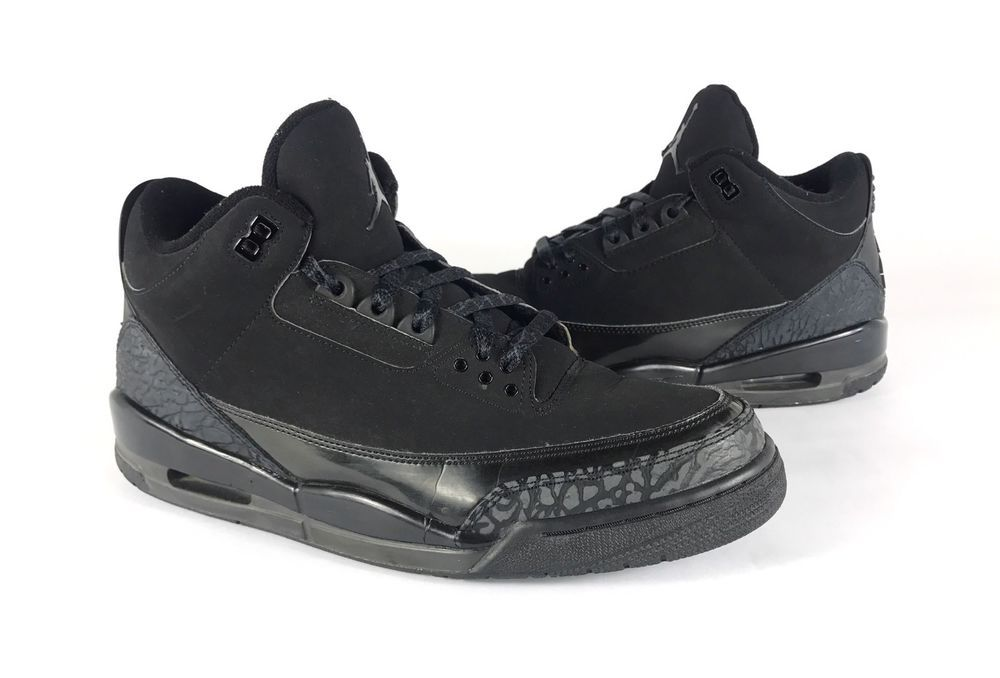 aceaa04256a RARE Nike Air Jordan 3 III Retro Black Cat Dark Charcoal Size 12 136064-002