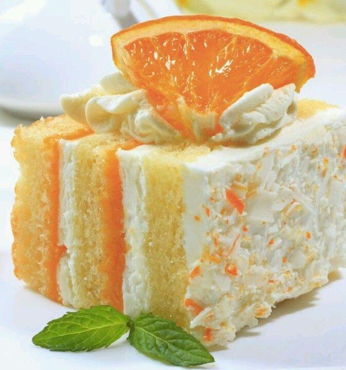 Orange cream cake