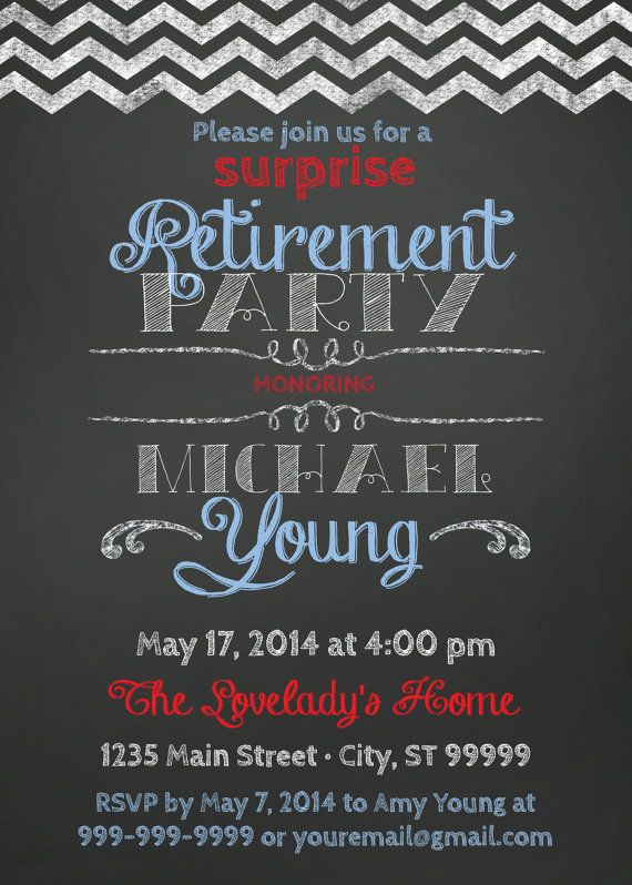 surprise retirement party invitation easter pinterest
