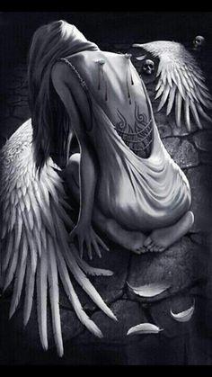 Fallen angel | Angeli e demoni, Arte dell'angelo, Disegno di un angelo