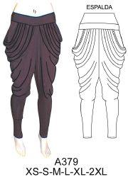 Pantalones Dama Dismoda. a379 Calza tiro largo con drapeado en costado.  Telas  jersey lycra 8d719f5c490e