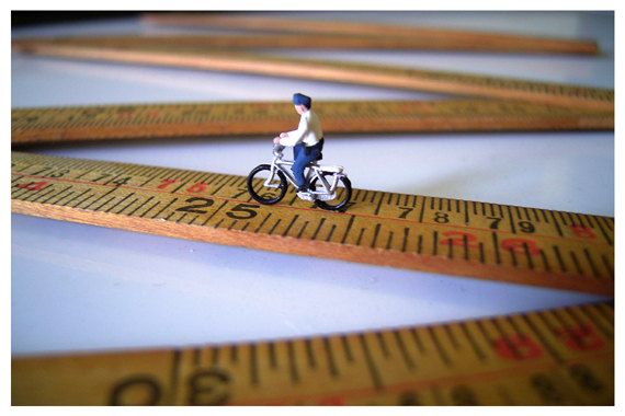Cyclist 6x4 Miniature Photography by MonsterGallery on Etsy