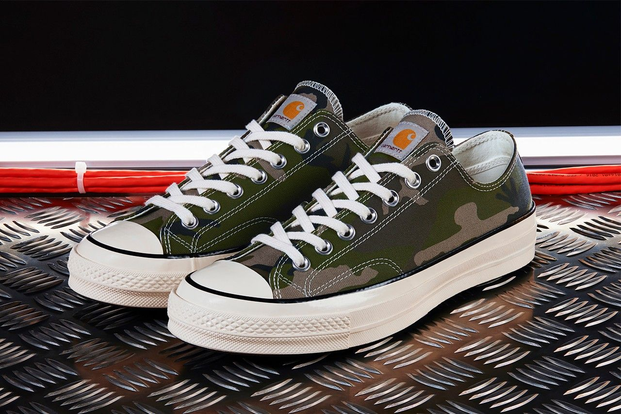 Carhartt Wip Adds A Military Twist To Converse Chuck 70s Converse Carhartt Classic Sneakers