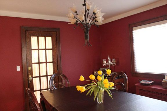 Benjamin Moore Maple Leaf Red Dining Room