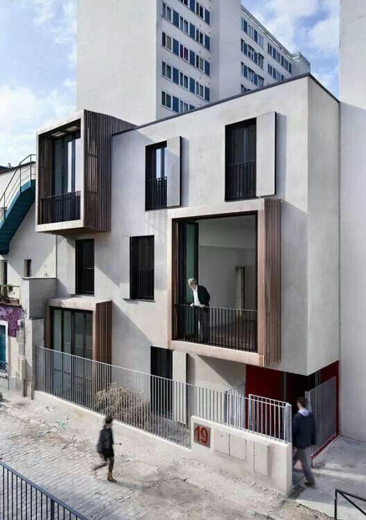Facade building architettura della facciata for Architettura case moderne idee