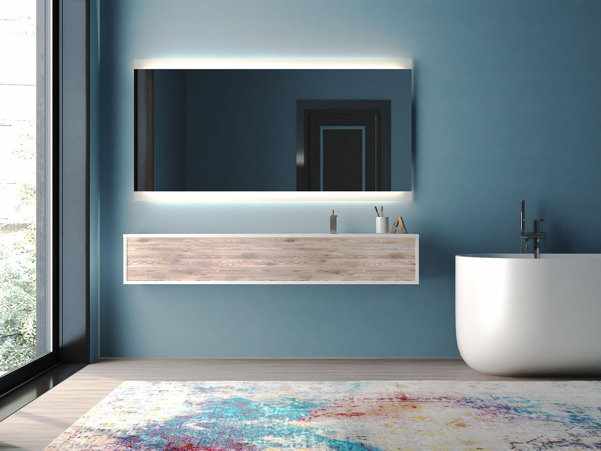 Astana Ist Ein Spiegel Mit Oben Und Unten Beleuchtung Badspiegel Spiegel Badezimmerspiegel
