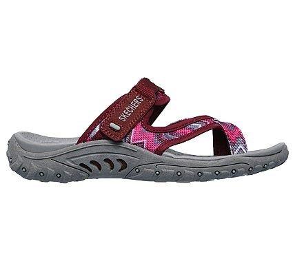 e6d1e0587d7a Skechers Women s Reggae Zig Swag Thong Sandals (Pink Grey Red)