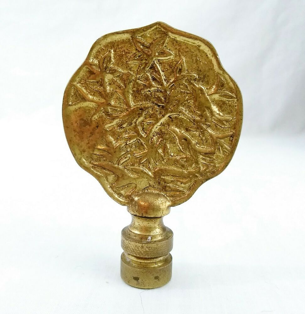 This Is A Finial For A Table Or Floor Lamp It Is Made Of Solid Brass And Features A Group Of Birds Sitting In Flowering Tre Lamp Finial Brass Lamp Brass
