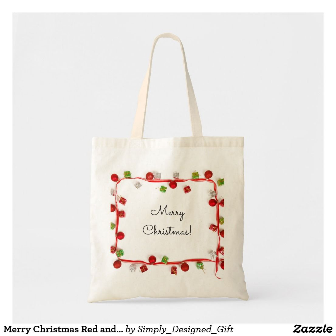 Custom Gift Bag Canvas Tote Merry and Bright Tote Bag Canvas Tote Bag Christmas Christmas Shopping Shopping Bag