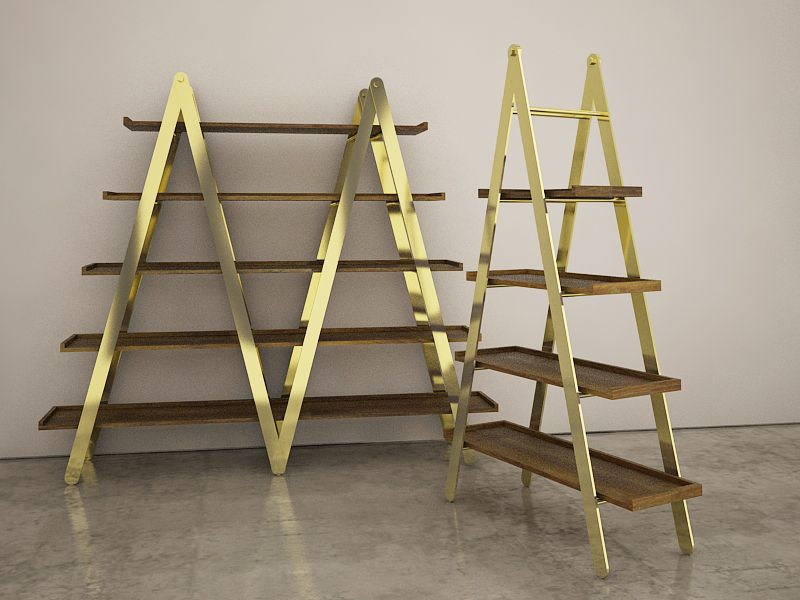Ladder Shelving by INC Architecture